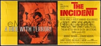 5p012 INCIDENT 24sh 1968 subway hostage Beau Bridges goes on a ride with terror, very rare!