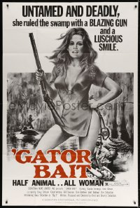 5p030 GATOR BAIT 40x60 1974 Claudia Jennings, half animal, all woman, untamed & deadly!