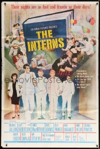 5p031 INTERNS 40x60 1962 James MacArthur, Michael Callan, Cliff Robertson, Nick Adams, Terpning art!