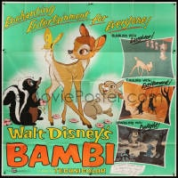 5p073 BAMBI 6sh R1957 Walt Disney cartoon deer classic, great art with Thumper & Flower!