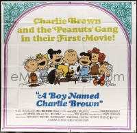 5p075 BOY NAMED CHARLIE BROWN 6sh 1970 baseball art of Snoopy & the Peanuts by Charles M. Schulz!