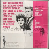 5p079 CHILD IS WAITING 6sh 1963 Howard Terpning art of Burt Lancaster & Judy Garland, Cassavetes!