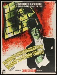 5p013 BULLDOG DRUMMOND'S SECRET POLICE Czech 37x49 1939 Burjanek art of detective John Howard!