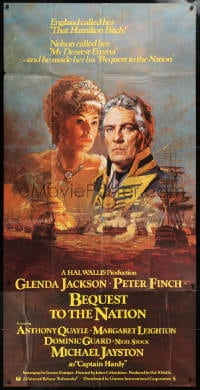5p060 NELSON AFFAIR English 3sh 1973 Bysouth art of Glenda Jackson & Finch, Bequest to the Nation!
