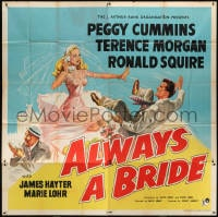 5p065 ALWAYS A BRIDE English 6sh 1953 wacky art of sexy Peggy Cummins & Terence Morgan, rare!