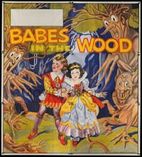 5p066 BABES IN THE WOOD stage play English 6sh 1930s Tenggren-like art of kids & menacing trees!