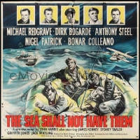 5p069 SEA SHALL NOT HAVE THEM English 6sh 1955 Michael Redgrave & Dirk Bogarde in raft in WWII!