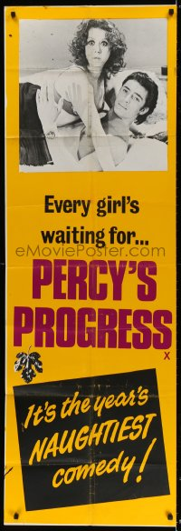 5p070 PERCY'S PROGRESS English door panel 1974 sexy Leigh Lawson in the year's naughiest comedy!