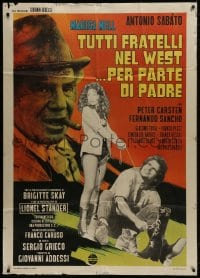 5p200 ALL THE BROTHERS OF THE WEST SUPPORT THEIR FATHER Italian 1p 1972 Sabato, spaghetti western!