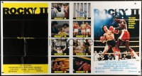 5p026 ROCKY II 1-stop poster 1979 Sylvester Stallone & Carl Weathers fight in ring, boxing sequel!