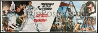 5p016 MOONRAKER int'l Spanish language 20x60 paper banner 1979 Roger Moore as James Bond, Lois Chiles