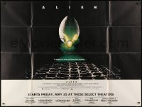 5p047 ALIEN subway poster 1979 Ridley Scott sci-fi classic, cool hatching egg image!
