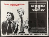 5p048 ALL THE PRESIDENT'S MEN subway poster 1976 Dustin Hoffman & Redford as Woodward & Bernstein!