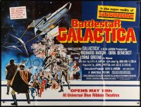 5p050 BATTLESTAR GALACTICA subway poster 1978 great sci-fi montage art by Robert Tanenbaum!