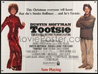 5p056 TOOTSIE subway poster 1982 great image of cross-dressing Dustin Hoffman as himself & in drag!