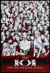 5r006 101 DALMATIANS int'l teaser 1sh 1996 Walt Disney live action, Glenn Close as Cruella De Vil!