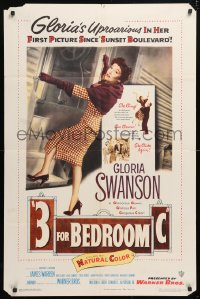 5r003 3 FOR BEDROOM C 1sh 1952 cool art of glamorous Gloria Swanson boarding train!