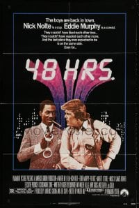 5r011 48 HRS. 1sh 1982 Nick Nolte is a cop who hates Eddie Murphy who is a convict!