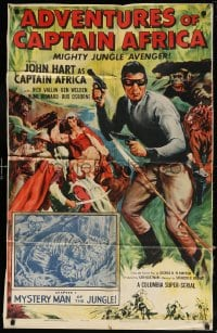 5r019 ADVENTURES OF CAPTAIN AFRICA chapter 1 25x40 1sh 1955 Columbia serial, Mystery Man of the Jungle!