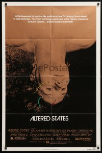 5r031 ALTERED STATES 1sh 1980 William Hurt, Paddy Chayefsky, Ken Russell, sci-fi horror!