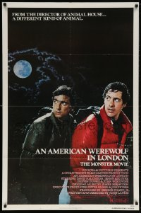 5r038 AMERICAN WEREWOLF IN LONDON 1sh 1981 David Naughton, Agutter, Dunne, John Landis!