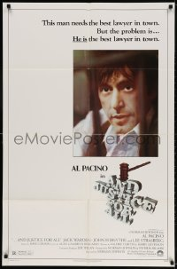 5r040 AND JUSTICE FOR ALL 1sh 1979 directed by Norman Jewison, Al Pacino is out of order!