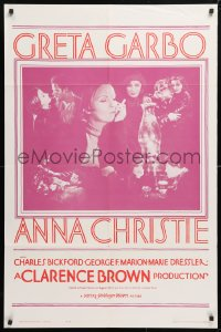 5r045 ANNA CHRISTIE 1sh R1962 Greta Garbo, Charles Bickford, Clarence Brown directed!
