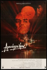 5r050 APOCALYPSE NOW 1sh 1979 Francis Ford Coppola, classic Bob Peak art of Brando and Sheen!