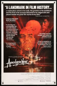 5r051 APOCALYPSE NOW reviews 1sh 1979 Francis Ford Coppola, classic Peak art of Brando and Sheen!