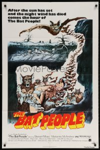 5r072 BAT PEOPLE revised 1sh 1974 AIP, Stewart Moss, cool horror artwork, It Lives By Night!