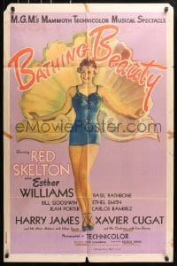 5r073 BATHING BEAUTY style C 1sh 1944 full-length art of sexy Esther Williams in swimsuit!