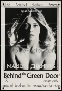 5r080 BEHIND THE GREEN DOOR 24x36 1sh 1972 Mitchell Bros' classic, c/u sexy naked Marilyn Chambers!