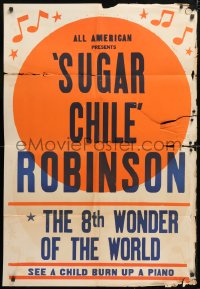 5r015 8TH WONDER OF THE WORLD 1sh 1940s black African American Sugar Chile Robinson burns up piano!