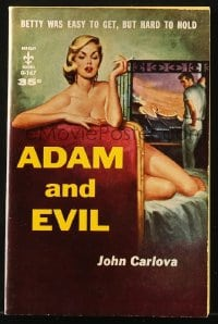5s076 ADAM & EVIL paperback book 1958 sexy unfaithful Betty was easy to get, but hard to hold!
