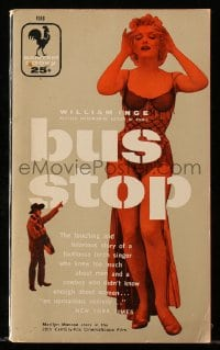 5s071 BUS STOP paperback book 1956 William Inge story made into a Marilyn Monroe movie!