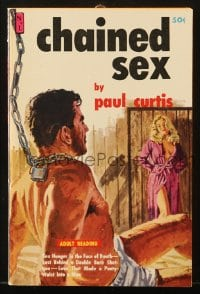 5s077 CHAINED SEX paperback book 1961 love that made a pantywaist into a man, sexy cover art!