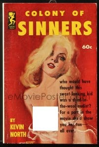 5s078 COLONY OF SINNERS paperback book 1962 great cover art of sweet-looking kid who's a nudist!