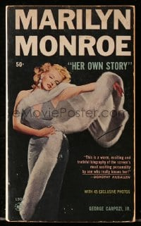 5s073 MARILYN MONROE HER OWN STORY paperback book 1961 profusely illustrated candid inside story!