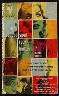 5s075 WILL SUCCESS SPOIL ROCK HUNTER paperback book 1957 Broadway's smash hit with Jayne Mansfield!