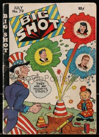 5s022 BIG SHOT COMICS #79 comic book 1947 cover art of Uncle Sam & Chinese man w/fireworks!