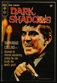 5s031 DARK SHADOWS #4 comic book 1970 Jonathan Frid as Barnabas Collins from the TV show!