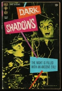 5s033 DARK SHADOWS #6 comic book 1970 Jonathan Frid as Barnabas Collins from the TV show!