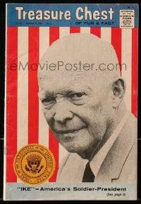 5s037 DWIGHT D. EISENHOWER vol 22 #5 comic book 1966 on the cover of Treasure Chest of Fun & Fact!