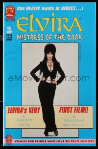 5s038 ELVIRA #55 comic book 1997 Mistress of the dark in her very first film!