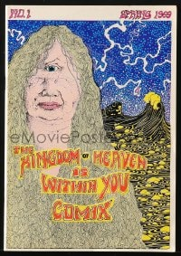 5s011 KINGDOM OF HEAVEN IS WITHIN YOU COMIX #1 comic book 1969 psychedelic art by John Thompson!