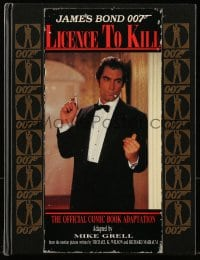 5s044 LICENCE TO KILL English hardcover comic book 1989 Dalton as James Bond, official adaptation!