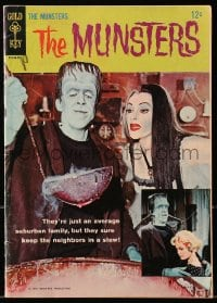 5s045 MUNSTERS #1 comic book 1964 the monster family from the hit television show, first issue!