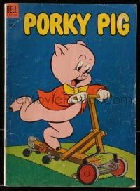 5s047 PORKY PIG #30 comic book 1953 great cover image with lawn mower turned into scooter!