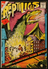 5s051 REPTILICUS vol 1 no 1 comic book 1961 the monstrous flying reptile, awesome, incredible!