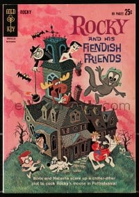 5s052 ROCKY & BULLWINKLE SHOW #1 comic book 1962 cartoon squirrel, moose, and his fiendish friends!